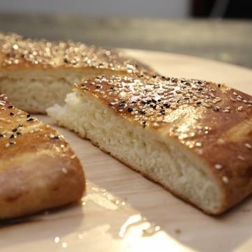 خبز رمضان بالسمسم بالفيديو