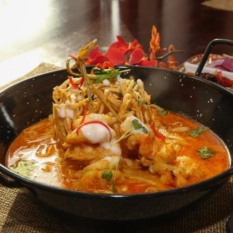 روبيان مع حليب جوز الهند من المطبخ التايلندي