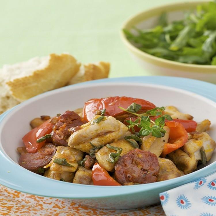دجاج مقلي من المطبخ الإسباني