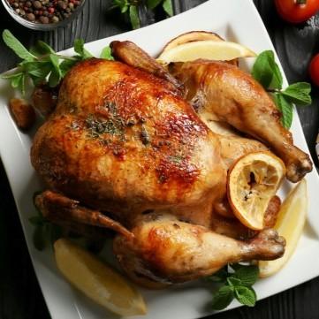 دجاج مشوي بالليمون والنعنع
