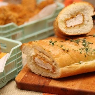 ساندويش الدجاج بالفيديو