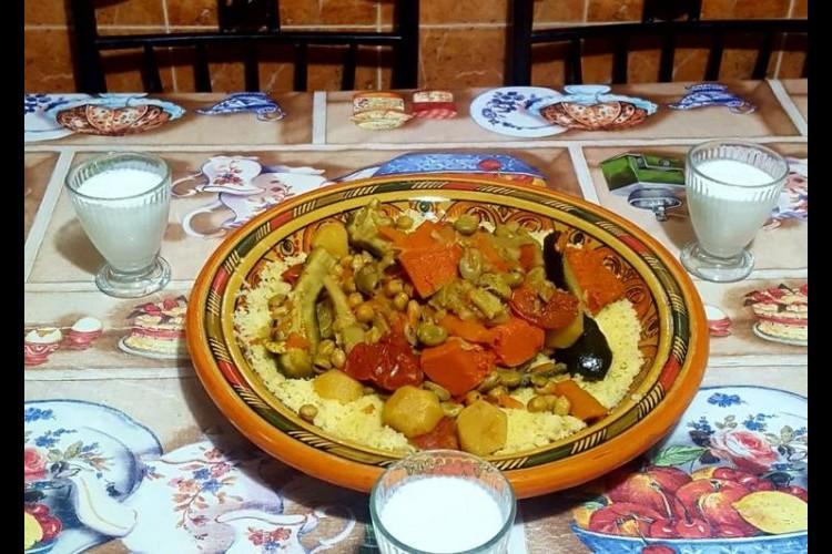 كسكس مغربي بالخضر