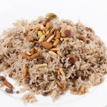 أرز بالخلطة واللحم المفروم