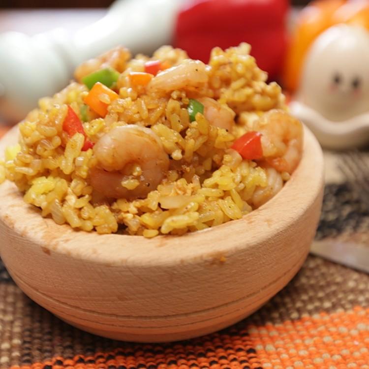 الأرز المقلي بالروبيان بالفيديو