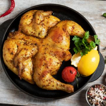دجاج بالفرن مع الأعشاب والليمون