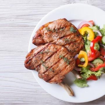 ستيك اللحم مع الخضار سوتيه للرجيم