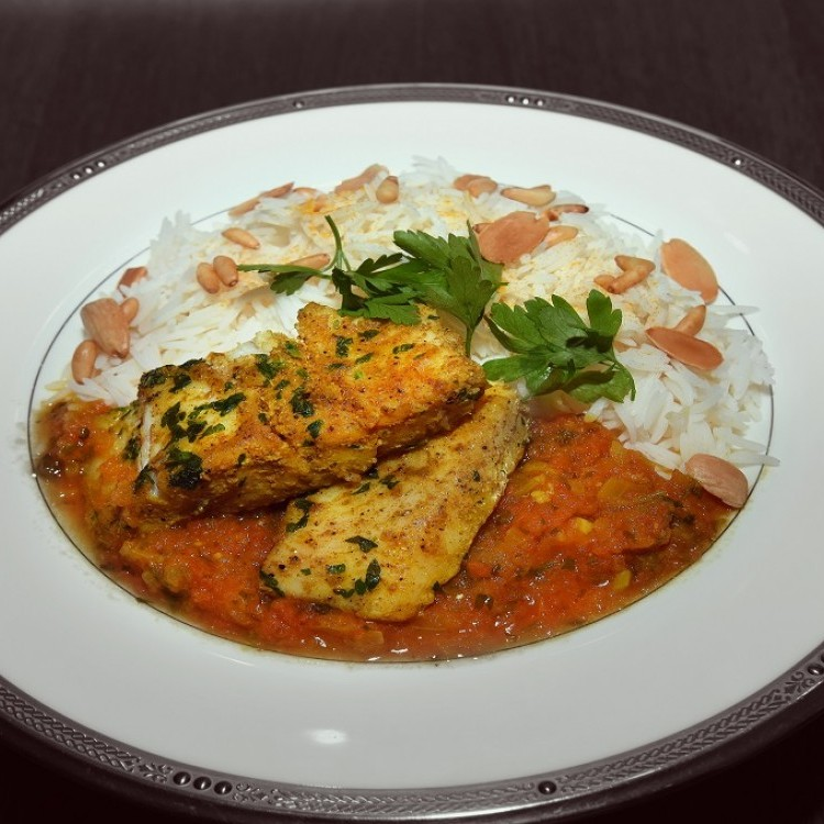 يخنة السمك مع الأرز