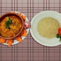 روبيان بالكاري مع الأرز