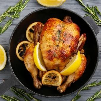 دجاج مشوي بالليمون والروزماري للدايت