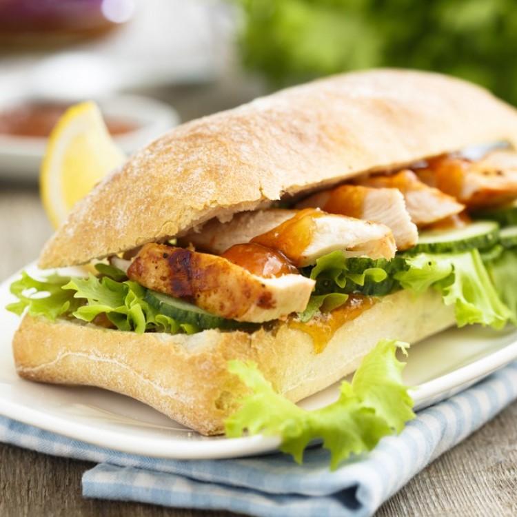 ساندويش دجاج بالخردل