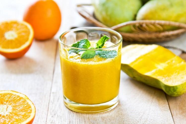 سموذي المانجو بالبرتقال