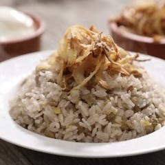 المجدرة بالأرز بالفيديو