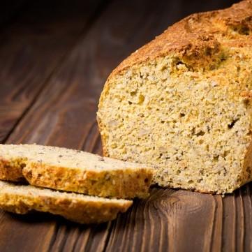 خبز الكيتو بالحمص