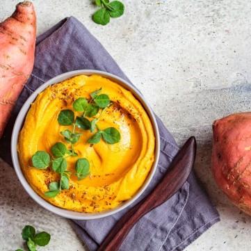 حمص البطاطا الحلوة لرجيم مثالي