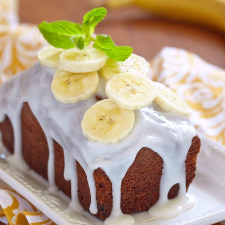 كيك الموز بالجبن الكريمي