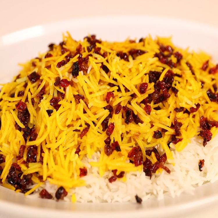 الأرز الإيراني بالزعفران والتوت بالفيديو