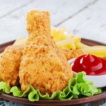 دجاج مقلي حار بدون بيض