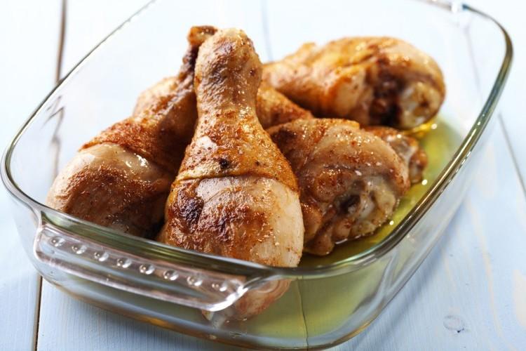 صينية دجاج بالثوم بالفرن
