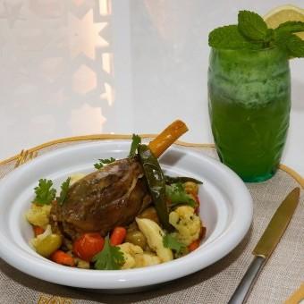 طاجن موزات الغنم والخضراوات