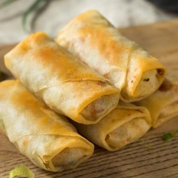 لفائف الجبن المقلي المقرمش