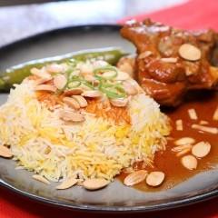 أرز مديني باللحم لغداء العيد بالفيديو