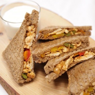 ساندويش الفاهيتا بخبز التوست بالفيديو