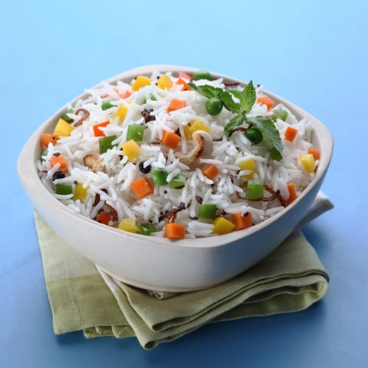 أرز بسمتي بالخضار للنباتيين