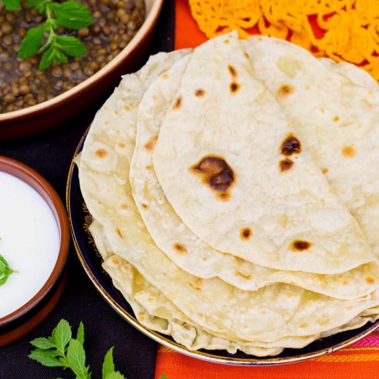 خبز شاباتي هندي