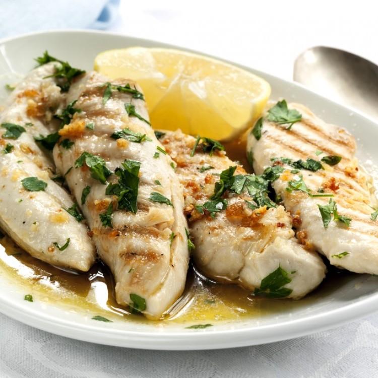 دجاج بالزبدة والليمون