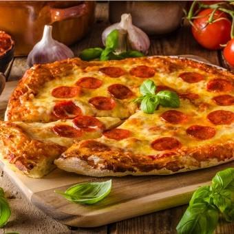 بيتزا بدون خميرة