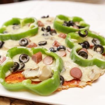 بيتزا الخضار بالمقلاة بالفيديو