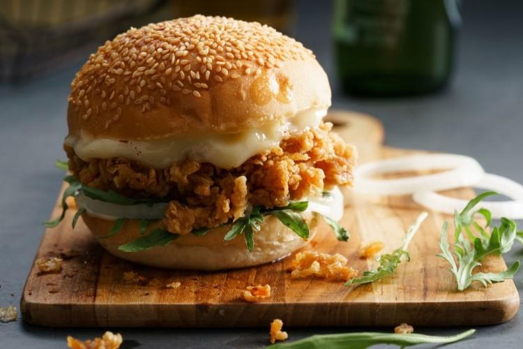 ساندويشات الدجاج المقلي