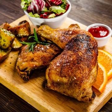 دجاج مشوي بصوص الصويا للرجيم