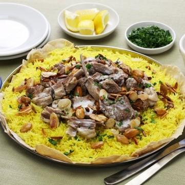 منسف باللحم لفطور رمضان