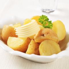 البطاطس بالزبدة