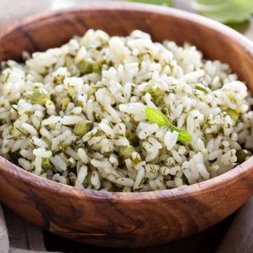أرز بالأعشاب