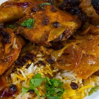 الأرز الإيراني بالدجاج بالفيديو