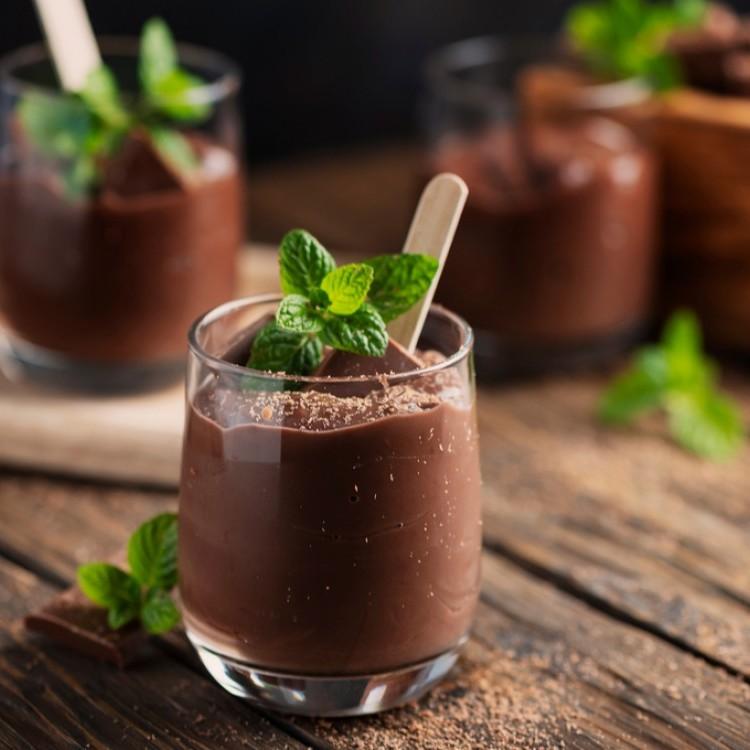 مهلبية بالشوكولاتة الداكنة